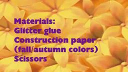 Easy Arts & Crafts Kid's Projects: Fall leaves with Construc