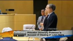 StealingLawnSigns Princeton Professor Princeton Nj