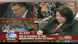 Sonia Sotomayer/Al Franken Joke About Perry Mason‬.