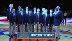 Knicks/Sixers Tigertones sing anthem at Madison Square Garde