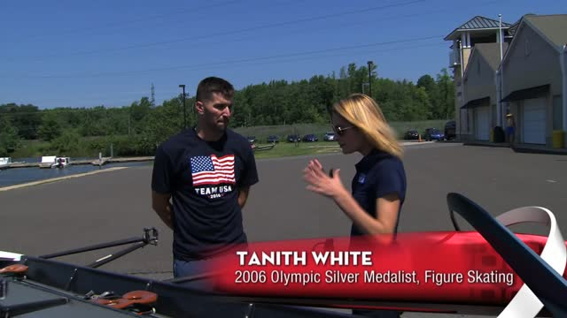 Tanith White Tries Rowing on 'USA Road To Rio' Lake Carnegie