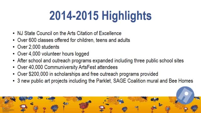 Princeton Arts Council Year in Review 2014-2015