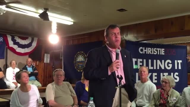OOPS! Christie Says 'Breathing' Causes Climate Change