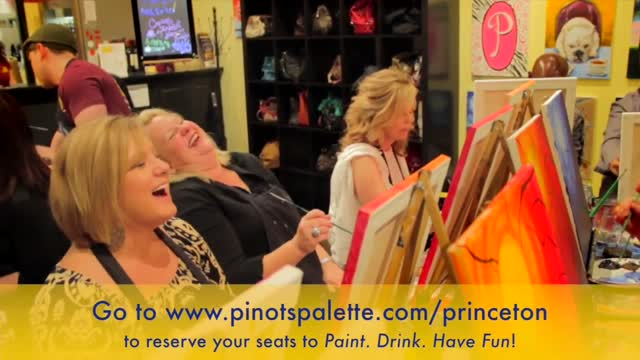 Pinot's Palette Princeton upscale paint and sip art studio