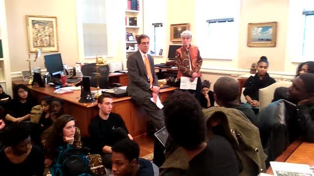 Princeton protestors confront President Eisgruber - Pt. 1 of 2
