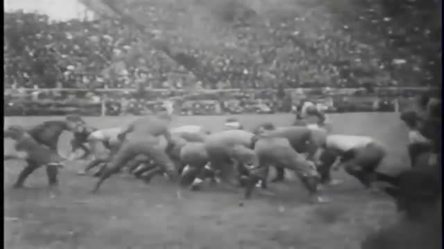 First football game on film 1903 Princeton-Yale Thomas Edison