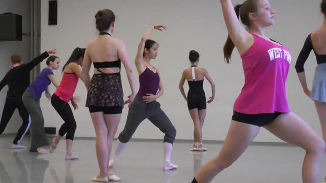 Students prepare for the Princeton Dance festival