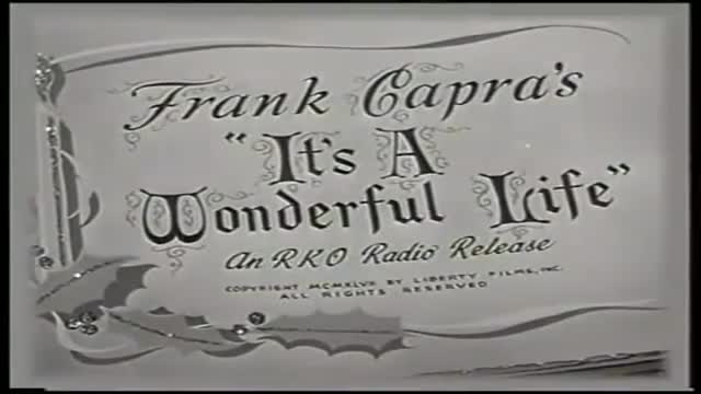 Its a Wonderful Life Trailer (1946) Frank Capra