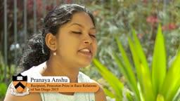 Princeton Prize in Race Relations Pranaya Anshu San Diego