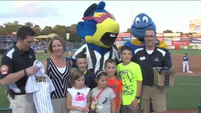 Trenton Thunder welcomes 9 Millionth Fan to ARM & HAMMER Park