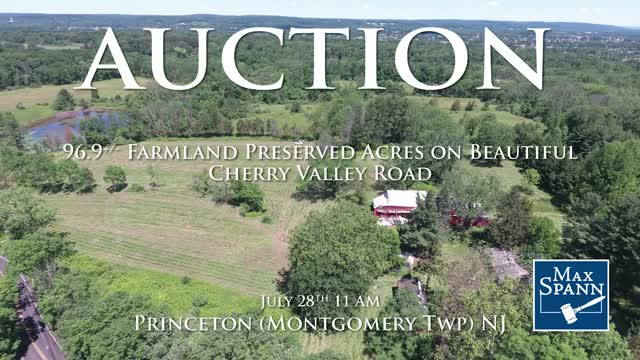 Pristine Farmland Auction in Princeton NJ July28