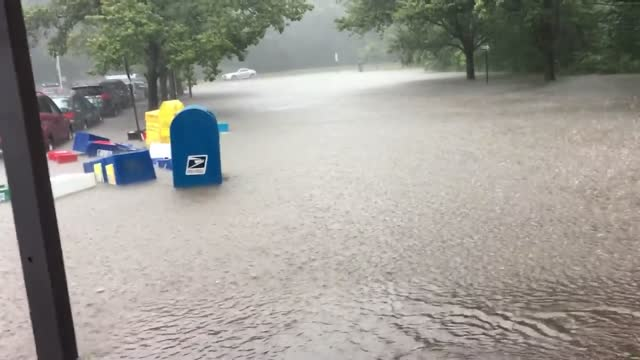 LAst week: Princeton Junction Train Station Flooded