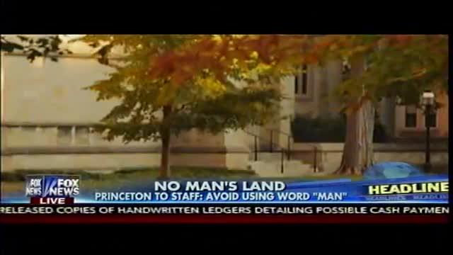 No Man's Land - Princeton PC Police Ban Word 'Man'