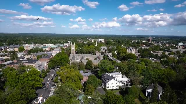Downtown Princeton and Trinity Church