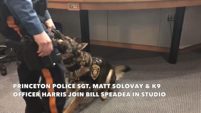 Princeton K9 Officer visits NJ 101.5