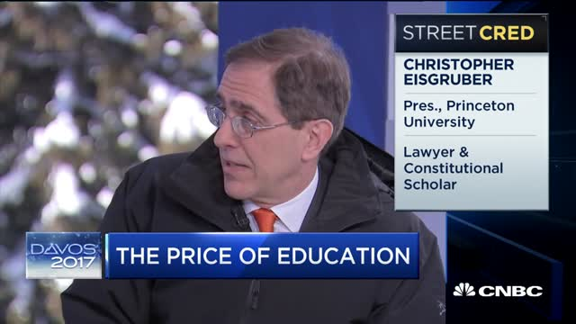 Princeton's Christopher Eisgruber: Investing In Higher Education | CNBC
