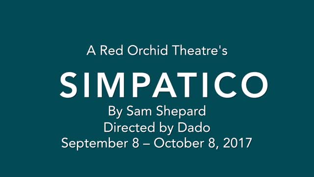 @McCarter 'A Red Orchid Theatre's SIMPATICO  By Sam Shepard