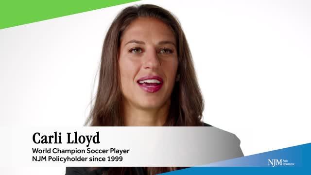 NJM - Gold Medalist Carli Lloyd longtime policyholder