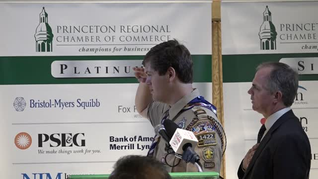 Eagle Scout Elian Chamber Pledge of Allegiance