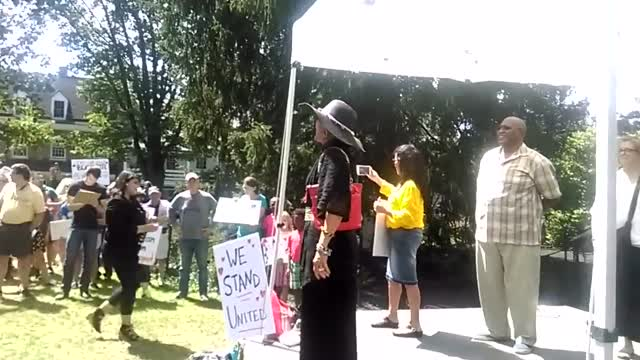 Edip Yuksel Rally against Fascism, Princeton