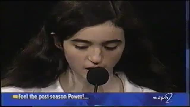 Final Round 1997 Spelling Bee, Rebecca Sealfon, Princeton '05
