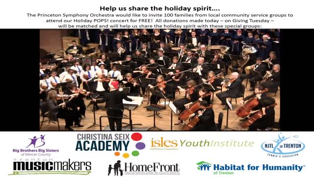 Giving Tuesday: Princeton Symphony Orchestra