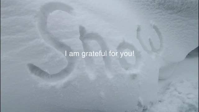 I am Grateful (for the snow and those who make roads safe for us).