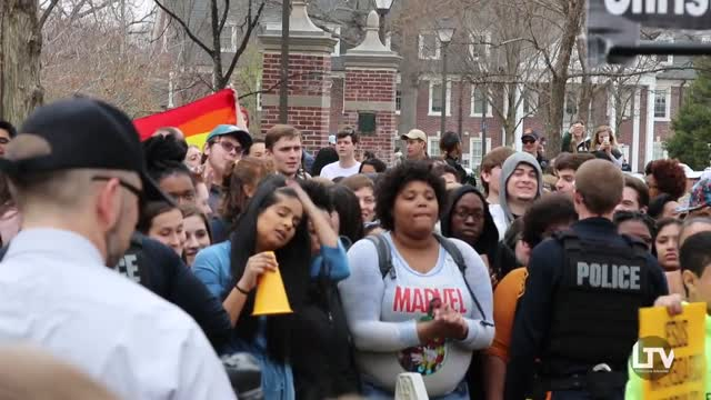 TCNJ Students Swarm Hate Group 'Bible Believers During Campus Protest