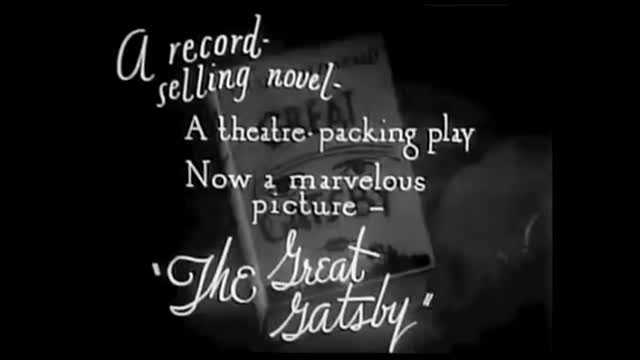 The Great Gatsby (1926) ONLY SURVIVING FOOTAGE F. Scott Fitzgerald Princetonr