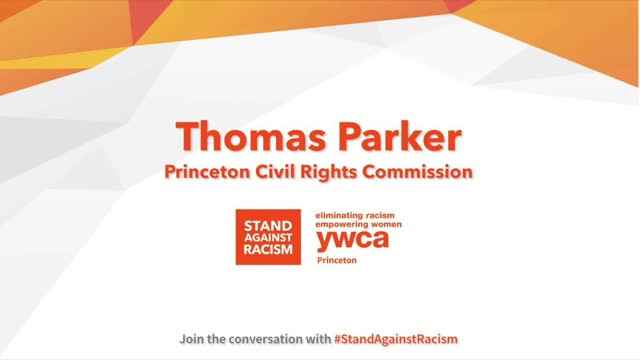 Princeton YWCA #StandAgainstRacism- Thomas Parker