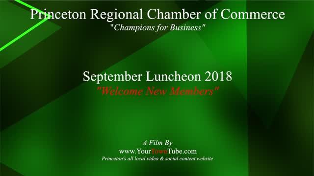 Princeton Chamber New Members Sept. 2018