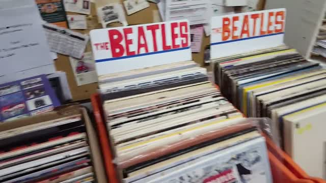 Beatles LPs @Princeton Record Exchange, Sept. 2018