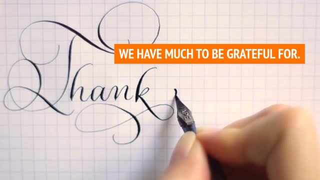 Much to be grateful for!