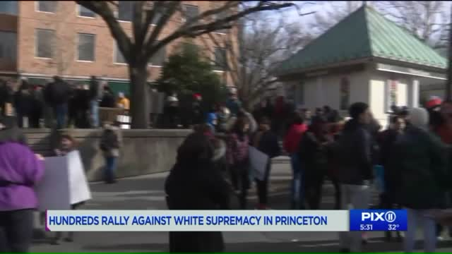 Large counter-protest in Princeton after white supremacist rally hoax