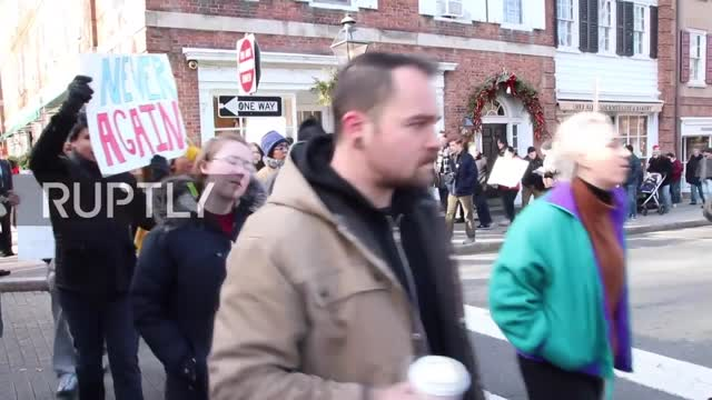 Counter-protest blocks 'hoax' white supremacist march in Princeton