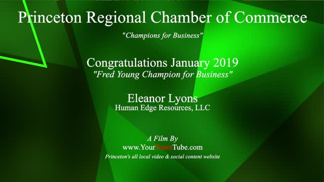 Princeton Chamber Champion for Business Eleanor Lyons
