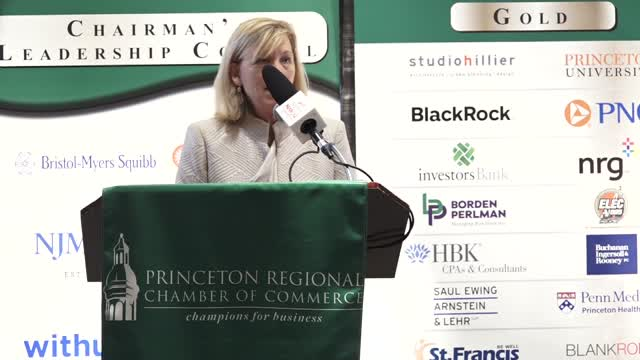 Princeton Chamber Amy Mansue RWJ Barnabas Health
