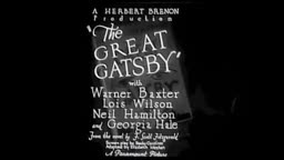 The Great Gatsby (1926) ONLY SURVIVING FOOTAGE F. Scott Fitzgerald Princeton