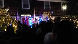 Princeton School of Rock Haus Band at Princeton Christmas Tree Lighting 2019 - Run Rudolph Run