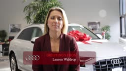 Lauren Waldrop Happy Holidays from AudiPrinceton!