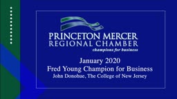 Princeton Mercer Chamber Champion for Business John Donahue