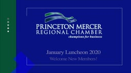 Princeton Mercer Regional Chamber new members 1/2020