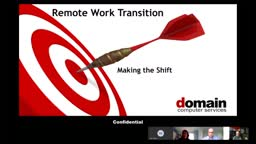 Remote Work Transition - Making the Shift. Domain Computer Services