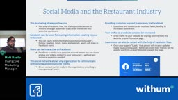 Restaurant Revitalization - Leveraging Social Media Platform