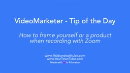 Video Tips: How to frame yourself while recording with zoom and more...