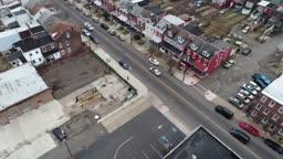 Trenton NJ Downtown Aerial Flight Federal Court House Capital Buildings