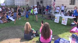 Anti Vaccination and Mask Mandate Protest in Trenton