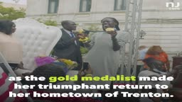 Gold medalist Athing Mu honored with huge parade in NJ Hometown