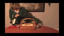 Making Valentine's Gift Baskets.