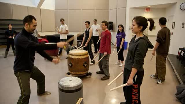 Princeton Taiko drumming seminar